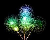 Fireworks over sky Stock Image