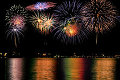 Free Fireworks Over The Lake Royalty Free Stock Image - 5764086