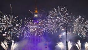 Fireworks over Warsaw
