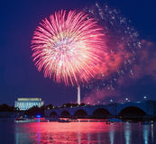 Fireworks over Washington, DC Stock Photography