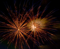 Fireworks in the Park 4. Fireworks display from July 4th at Downtown Spokane, WA Royalty Free Stock Photo