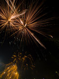 Fireworks in the Park 5. Fireworks display from July 4th at Downtown Spokane, WA Royalty Free Stock Image