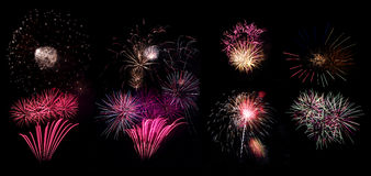 Fireworks part two. Collection of high resolution fireworks part two Stock Photography