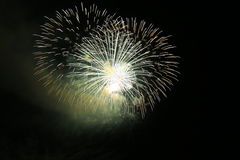Fireworks party. Fireworks for parties like wedding, new year, sylvester, independance days and others Stock Photos