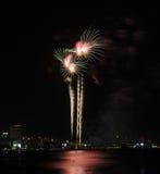 Fireworks at Pattaya beach, Thailand Royalty Free Stock Photography