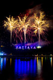 Fireworks at Pattaya, Thailand Stock Photography