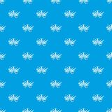 Fireworks pattern seamless blue. Fireworks pattern repeat seamless in blue color for any design. Vector geometric illustration Royalty Free Stock Image