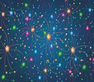 Fireworks pattern Stock Photos