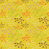 Fireworks pattern Stock Photography