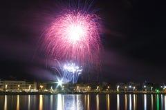 Fireworks in Peñíscola Stock Image