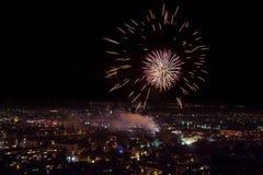 Fireworks in Plovdiv, Bulgaria Stock Photo
