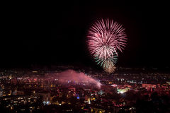 Fireworks in Plovdiv, Bulgaria Stock Photography