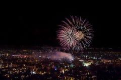 Fireworks in Plovdiv, Bulgaria Stock Image