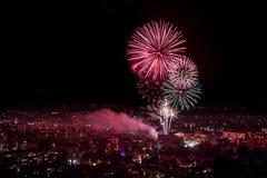 Fireworks in Plovdiv, Bulgaria Stock Photos