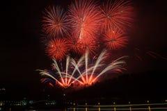 Fireworks in Prague Stock Image