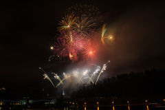 Fireworks in Prague Stock Images