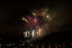 Fireworks in Prague Royalty Free Stock Photography