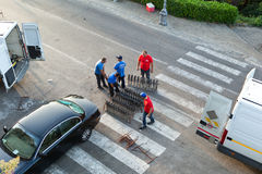 Fireworks preparation for the day of St. Giovanni Battista Royalty Free Stock Image