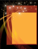 Fireworks Presentation. A fireworks display is featured in an abstract background illustration Royalty Free Stock Photo