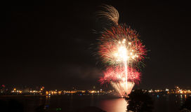 Fireworks Providence. 4th of July fireworks in Providence, Rhode Island. USA 2014 Royalty Free Stock Photo