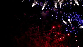 Fireworks pyrotechnic light effect stock video footage