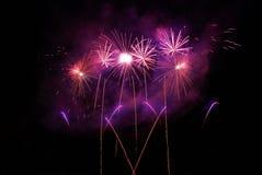 Fireworks, pyrotechnics. Fireworks on the night sky Stock Photo