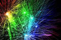 Fireworks Rainbow. Fireworks in rainbow colors are featured in an abstract background illustration Vector Illustration