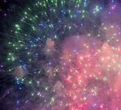 Fireworks at Rapallo Royalty Free Stock Images