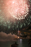 Fireworks Recco Italy Stock Photography