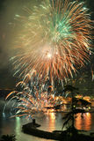 Fireworks Recco Italy Stock Photo