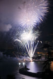 Fireworks Recco Italy Stock Photos