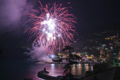 Fireworks Recco Italy Royalty Free Stock Photos