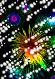 The fireworks in recollections. Fireworks to watch in memory. Are together with the flowing light Royalty Free Stock Images