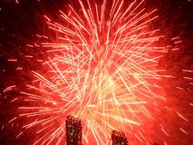 Fireworks - Red. Red Fireworks Stock Images