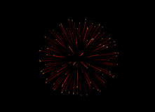 Fireworks. Red glowing ball in the black sky Royalty Free Stock Photos