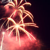 Fireworks red and yellow Royalty Free Stock Image
