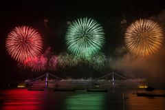 Fireworks, Reflection, Event, New Year's Eve Stock Photo