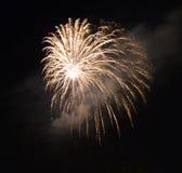 Fireworks in Reggio Emilia Stock Image
