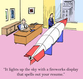 Fireworks resume. It lights up the sky with a fireworks display that spells out your resume Royalty Free Stock Image