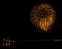 Fireworks in Reykjavik Stock Images