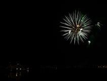 Fireworks in Reykjavik Royalty Free Stock Photo