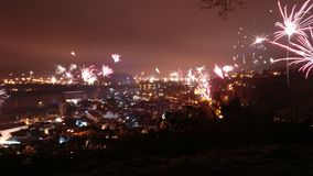 Fireworks at Rhein Royalty Free Stock Images