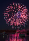 Fireworks On The River Royalty Free Stock Images