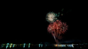 Fireworks at riverside Stock Photography