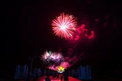 Fireworks at Royal Park Rajapruek, Chiang mai Thailand Royalty Free Stock Photo