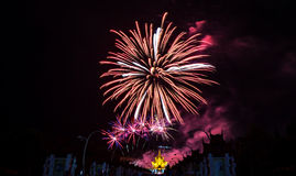 Fireworks at Royal Park Rajapruek, Chiang mai Thailand Stock Photos