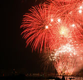 Fireworks Sail 2015. 20 August Sail 2015;  the day of the Sail event ends with a fireworks show at the Orange Ocean Royalty Free Stock Photos