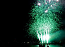 Fireworks Sail 2015. 20 August Sail 2015;  the day of the Sail event ends with a fireworks show at the Orange Ocean Royalty Free Stock Image