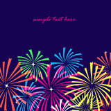 Fireworks,salut. The perfect holiday greeting card, suitable for packaging, wallpaper, illustration for skazok.Salyut, fireworks in the night sky Stock Photos