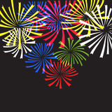 Fireworks,salut. An excellent example for the wallpaper, package design, illustration, paper, postcards, fabric, textures for textile Stock Image